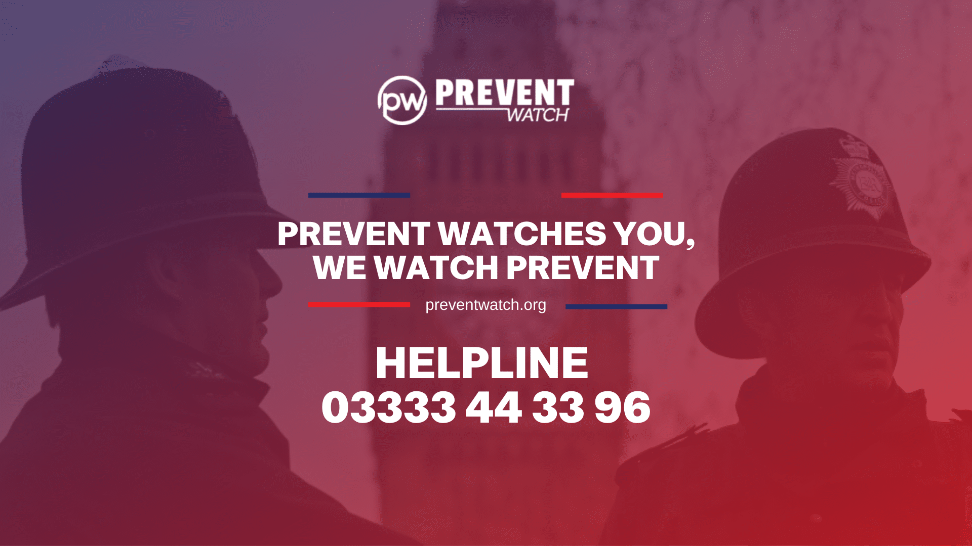 Prevent Watch you, we watch Prevent